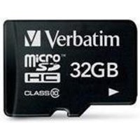 Verbatim (32GB0 MicroSDHC Memory Card (Class 10)
