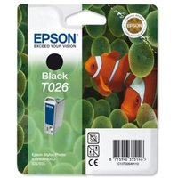 Epson T026 (T026401) Black Original Ink Cartridge (Fish)