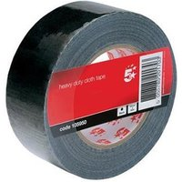 5 Star Office Cloth Tape Roll 50mmx50m Black