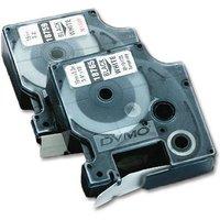 Dymo 9mm Permanent Polyester Tape (Black on White)