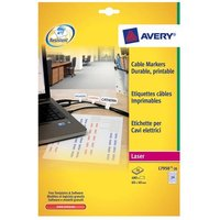 Avery Cable Marker Labels (24 Sheets of 20 Labels) Total 480 Labels