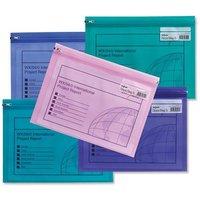 Snopake Zippa-Bag S (A5) Zipped Folder (Electra Assorted Colours) Pack of 25 Folders