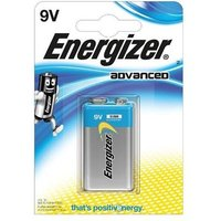 Energizer Advanced (9V) Alkaline Battery (Pack of 1 Battery)
