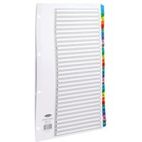 Concord Index 1-31 A4 White with Multi-Colour Tabs 03201/CS32