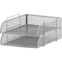Mesh Front Load Letter Tray (Foolscap) Silver