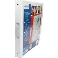 Elba Ring Binder PVC with Clear Front Pocket 4 O-Ring Size 25mm A4 White Ref 100080879 [Pack 10]