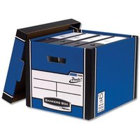 Fellowes Bankers Box Premium 726 (A4/Foolscap) Tall Storage Box with Lift-off Locking Lid (1 x Pack of 10 Storage Boxes)
