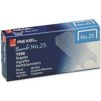 Rexel No.25 4mm Staples (1 x Box of 1500 Staples)