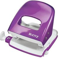 Leitz Durable Medium-Duty Metal Hole Punch (Purple) 30 Sheets of 80gsm Paper