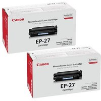 TWINPACK: Canon EP27 Original Black Toner Cartridge