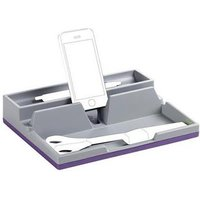 Durable VARICOLOR Desk Organiser with Integrated Cable Management