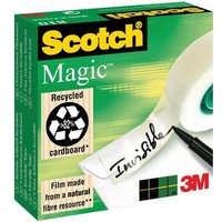 Scotch Magic Tape (12mm x 66m) Matt Pack of 2