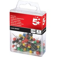 5 Star (5mm) Map Pins Head Assorted Pack of 100