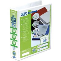 Elba Panorama Presentation Ring Binder PVC 4D-Ring A4 50mm White (4 Pack)