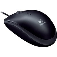 Logitech B110 Mouse USB Wired Optical 800dpi 3-Button Cable 1.8m Black