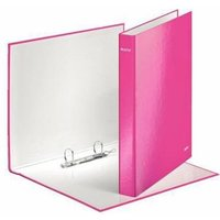 Leitz WOW (A4) Ring Binder 2 D-Ring for 250 Sheets Maxi (Pink) Pack of 10