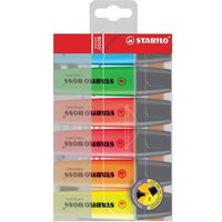 Stabilo Boss Highlighters Chisel Tip 2-5mm Line Assorted (1 x Pack of 6)