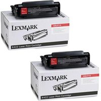TWIN PACK : Lexmark 12A3715 Original Black Toner Cartridge
