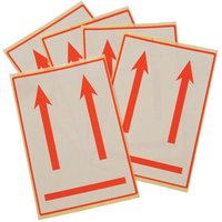 International Handling Labels Red/White Printed this Way Up Pack of 5