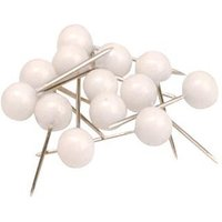 5 Star (5mm) Map Pins Head (White) Pack of 100