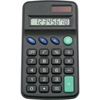 5 Star Office Pocket Calculator 8 Key Display Dual-powered by Solar and Battery 1xLR54 (included)
