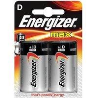 Energizer Max (D) Alkaline Batteries (Pack of 2 Batteries)