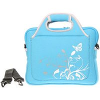Blue Memory Foam Laptop / Notebook Bag With Handle Up to 10.2 Inch Laptops