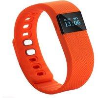 X64 OLED Bluetooth 4.0 Activity Tracker Smart Bracelet Wristband - Orange