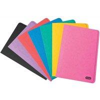 Elba Boston Square Cut Folder Pressboard 300 micron for 32mm Foolscap Assorted (Pack of 50)
