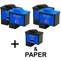 3 x Black Dell T0529 and 2 x Colour Dell T0530 (Remanufactured) + 1 Free Paper