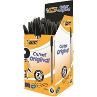 Bic Cristal Ball Pen Medium 1.0mm Black PK50