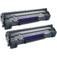 Compatible Multipack Canon i-SENSYS MF3010 Printer Toner Cartridges (2 Pack) -3484B002AA