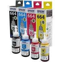 Original Multipack Epson EcoTank L485 Printer Ink Cartridges (4 Pack) -C13T664140
