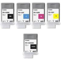Original Multipack Canon imagePROGRAF GP-300 Printer Ink Cartridges (5 Pack) -PFI-120BK