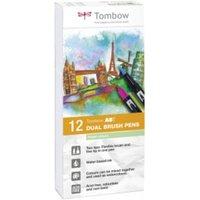 Tombow ABT Dual Brush Pen 2 tips Pastel Colours PK12