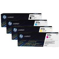 Original Multipack HP Colour LaserJet Pro MFP M476dn Printer Toner Cartridges (4 Pack) -CF380X