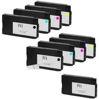 Compatible Multipack HP DesignJet T530 24-in Printer Ink Cartridges (9 Pack) -CZ129A