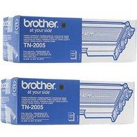 Brother Black TN2005 Original Toners Twin Pack (2 Pack)