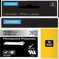 Dymo 18762 (S0718200) Original Label Tape (9mm x 5.5m) Black On Metallic