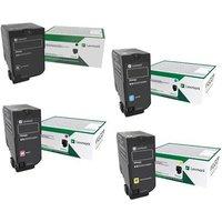 Original Multipack Lexmark CX827de Printer Toner Cartridges (4 Pack) -73B20K0