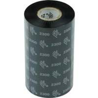 Zebra 02300BK11030 Original Wax Printer Ribbon 2300 (110mm x 300m)