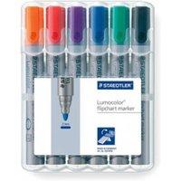 Staedtler Lumocolor Flipchart Marker Bullet Tip Atd PK6