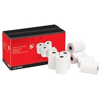 5 Star Adding Machine Roll Single Ply 55gsm Pack of 20