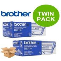 Brother Black TN2110 Original Toners Twin Pack (2 Pack)