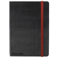 Black n Red (A5) Book Casebound Journal Notebook 90g/m2 Ruled and Numbered 144 Pages