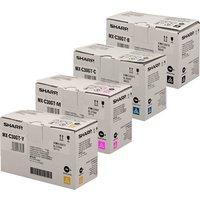Original Multipack Sharp MX-C303W Printer Toner Cartridges (4 Pack) -MXC-30GTB