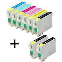 Compatible Multipack Epson Stylus Photo RX300 Printer Ink Cartridges (8 Pack) -C13T04814010
