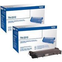 Original Multipack Brother MFC-L2740CW Printer Toner Cartridges (2 Pack) -TN2310