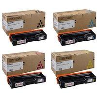 Original Multipack Ricoh Aficio SPC250DN Printer Toner Cartridges (4 Pack) -407543