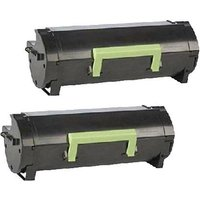 Compatible Multipack Lexmark MS610dte Printer Toner Cartridges (2 Pack) -